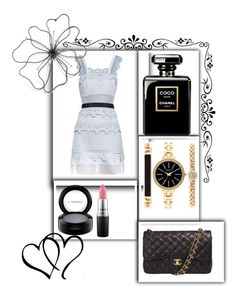 """""""Untitled #237"""" by jasmine-rlrh ❤ liked on Polyvore featuring self-portrait, Style & Co., MAC Cosmetics and Chanel"""
