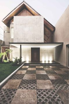 Exterior Architecture Facade Modern Interior Design Ideas For 2019 Modern Tropical House, Tropical House Design, Tropical Houses, Tropical Architecture, Facade Architecture, Residential Architecture, Design Exterior, Facade Design, Carport Modern