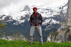 Mochilão de Ernesto Junior pela Suíça em maio de 2012.