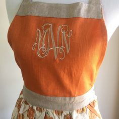 Cutest Monogrammed Fall Apron Ever!!! @MayfairMonogram on Etsy!