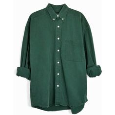 Vintage Hunter Green Button Down Shirt 90s Men's Shirt men's medium ($42) ❤…