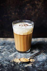 Kauralatte | K-Ruoka #latte Pint Glass, Espresso, Latte, Pudding, Beer, Tableware, Desserts, Food, Espresso Coffee