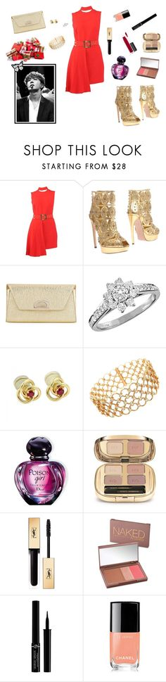 """J-Hope's girl - So... Merry Christmas, everybody!"" by raven-costa on Polyvore featuring moda, Versace, Alexander McQueen, Christian Louboutin, Tiffany & Co., Christian Dior, Dolce&Gabbana, Yves Saint Laurent, Urban Decay e Giorgio Armani"