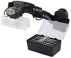 Growers Edge LED Headband Magnifier with 5 Lenses 10x  15x  25x  30x  35x -- Read more reviews of the product by visiting the link on the image.
