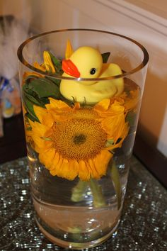 Rubber Ducky Baby Shower Centerpieces | rubber ducky centerpiece for baby shower repinned from baby party by ...