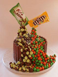 Zero Gravity Cake with Aero and M&M's
