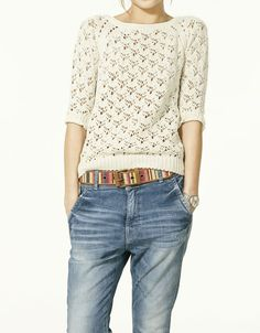 Lovely knitwear and comfy jeans!
