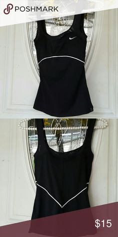 Price Reduced* Nike Dri-Fit active gym shirt XS Nike Dri-Fit active gym workout shirt size XS, black & white, in great condition Nike Tops Tank Tops