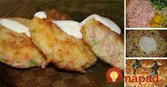 Zemiakové fašírky so šunkou a syrom