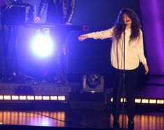 "Lorde performs on ""The GRAMMY Nominations Live!! — Countdown To Music's Biggest Night"" on Dec. 6 in Los Angeles"