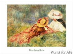 Pierre Auguste Renoir - Jeune Filles au Bord de L`eau