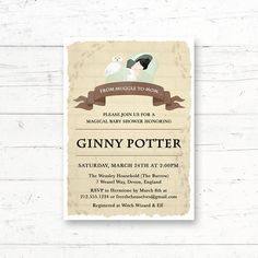 Magical Wizard Potter Baby Shower Printable Invitation Baby Harry Invitation by CrissyDesignCo Bridal Bingo, Bridal Shower Games, Baby Shower Games, Harry Potter Baby Shower, Harry Potter Wedding, Printable Invitations, Baby Shower Invitations, Baby Animal Games, Who Knows Mommy Best