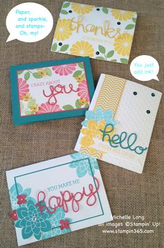 Do you love to create handmade greeting cards to send to your friends and family? Do you collect high quality stamp sets? Then our stamp of the month club is just for you! Each month, you will rece… Tarjetas Diy, Crazy About You, Hand Stamped Cards, Stampin Up Catalog, Copics, Flower Cards, Greeting Cards Handmade, Scrapbook Cards, Homemade Cards