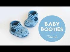 Crochet Baby Booties Pattern Easy DIY Video Tutorial