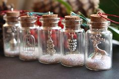 Christmas tree decorations Christmas tree ornaments glitter bottles Christmas gift Christmas decoration Reindeer gift small bottles GBP) by GallaghersBoutique Decorations Christmas, Diy Christmas Ornaments, Homemade Christmas, Christmas Projects, Holiday Crafts, Christmas Holidays, Small Christmas Gifts, Miniature Christmas Trees, Etsy Christmas