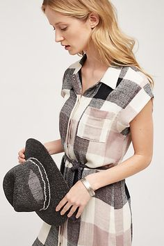 Plaid Gauze Shirtdress - anthropologie.com