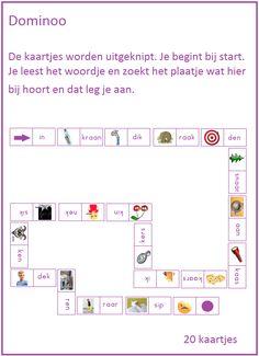 Lijn 3 thema 1 dominoo met woorden. 20 kaartjes