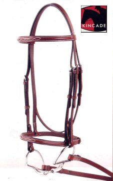 Kincade Plain or Fancy Stitched Raised Bridle