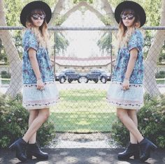 TYSA Mae West Dress featured on Fashion Dream Cloud. Love the boho look turned edgey and street chic.
