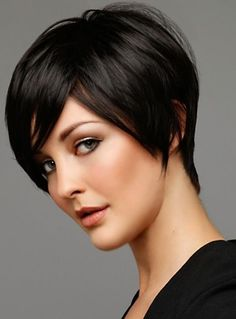 Short haircut and dark brown color. By Tyla Aberle.  @Bloom.com
