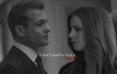 I don't want to lose you.. #darvey #suits #suitsusa #harveyspecter #donnapaulsen…