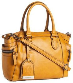 London Fog - Fielding Satchel (Mustard) - Bags and Luggage on shopstyle.com