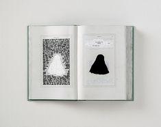 Emilio isgrò, I promessi sposi cancellati: La monaca di Monza, 2016, cm 49 x 62, tecnica mista su libro tipografico montato su legno. Collezione privata
