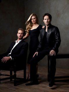 Alexander Skarsgard, Anna Paquin, and Stephen Moyer of True Blood