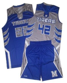 Our most popular style sublimated basketball uniform.  The reversible jersey and single side short uniform set gives you all the benefits of two uniforms at lower cost.  We'll create a full custom sublimated basketball uniform that will make a statement you take the court.