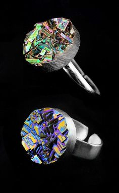 Bismuth Crystal Ring Unique Jewelry Custom Ring by Element83