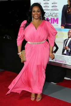 Jill Scott I don't know who the dress is by but she looks stunning in it!