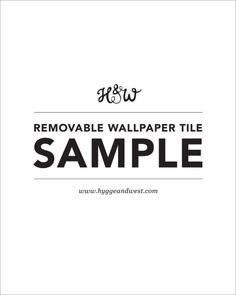 Hygge & West | Removable Wallpaper Tile Sample