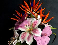 """Check out new work on my @Behance portfolio: """"Paper Flowers bouquet of lilies,bird of paradise"""" http://be.net/gallery/51765371/Paper-Flowers-bouquet-of-liliesbird-of-paradise"""
