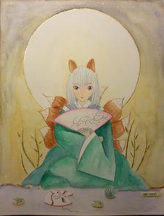 #kitsune #watercolor #manga #oriental