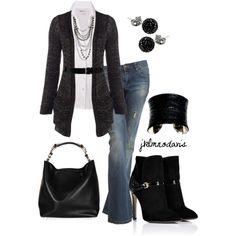 Black and White, created by jklmnodavis on Polyvore