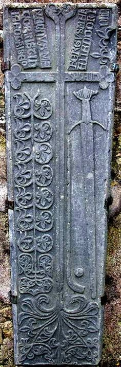 The Clonca graveslab. Believe it or not one of the earliest depictions of a hurley and sliothar comes from Co. Donegal, home of the All-Ireland football champions! It is found on a 15th century graveslab from Clonca (the ball and hurley/Camán are located beside the sword).