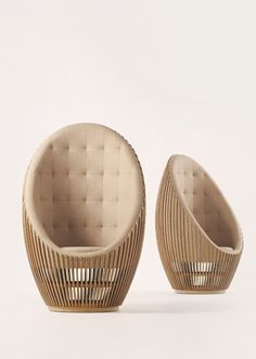 A unique pair of chairs with a nature inspired wood structure  for a modern decor | www.bocadolobo.com/ #luxuryfurniture #designfurniture