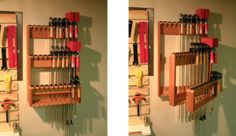 Orion, you need this! Space Saving Bar Clamp Racks - Woodwork City