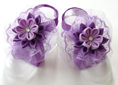 Baby Headband and Baby Barefoot Sandals. Baby shoes. Baby by JuLVa