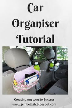 Creating my way to Success: Car Organiser tutorial - great organiser with pockets for everything - even a hidden underneath pocket for an emergency umbrella!