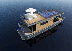 Do It Yourself Boat Plans. MyBoatPlans gives you instant access to over step-by-step boat plans, videos and boat building guides Luxury Houseboats, Utility Boat, Water House, Boat House, Houseboat Living, Lakefront Property, Boat Lift, Pontoon Boat, Pontoon Houseboat