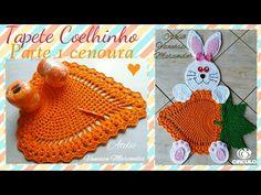 Bunny Rug with carrot Crochet Stars, Love Crochet, Crochet Flowers, Crochet Lace, Doily Patterns, Crochet Patterns, Bathroom Crafts, Crochet Carpet, Easter Crochet