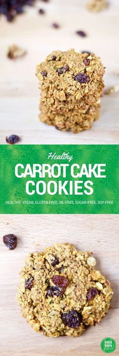 Carrot Cake Cookies | WIN-WINFOOD.com extra chewy and flavorful but secretly #healthy #vegan