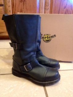 Dr. Martens Kathleena-W Womens Kathleena Strap Calf Boot- Size 9 #DrMartens #CalfStrapBoots