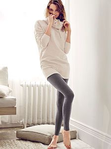 Fleece Cowlneck Tunic & Yoga Legging - Victoria's Secret  Looks so comfy!!!