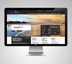 Hotels van Oranje by Deep Graphic Design , via Behance Nice footer compartmentalisation Web Layout, Layout Design, Mise En Page Web, Ui Web, Responsive Web, Software, Japanese Graphic Design, Ui Design Inspiration, Interface Design