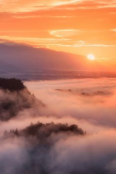 Sunrise above the Clouds