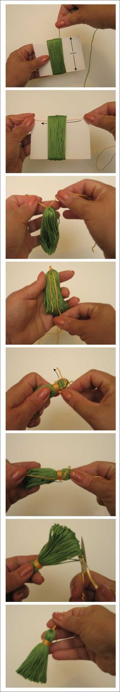 Make a basic tassel tutorial #diy #crafts #tutorial #tassels