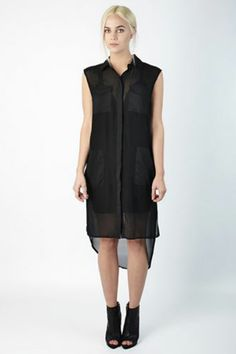 Plastic Island Sloan Sheer Tunic Dress, $36, available at Collective Habit.