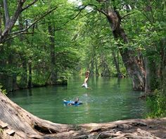 Blue Hole in Wimberley, Texas